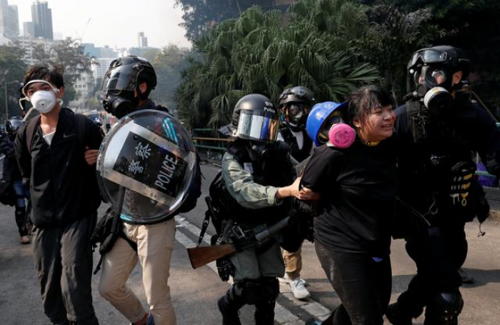 China accuses Britain of taking sides in Hong Kong protests