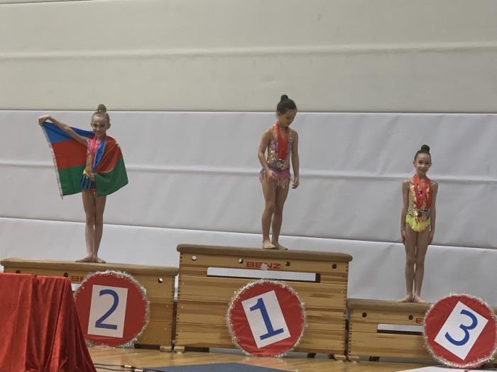 Gimnasta azerbaiyana obtuvo el segundo lugar en un torneo internacional