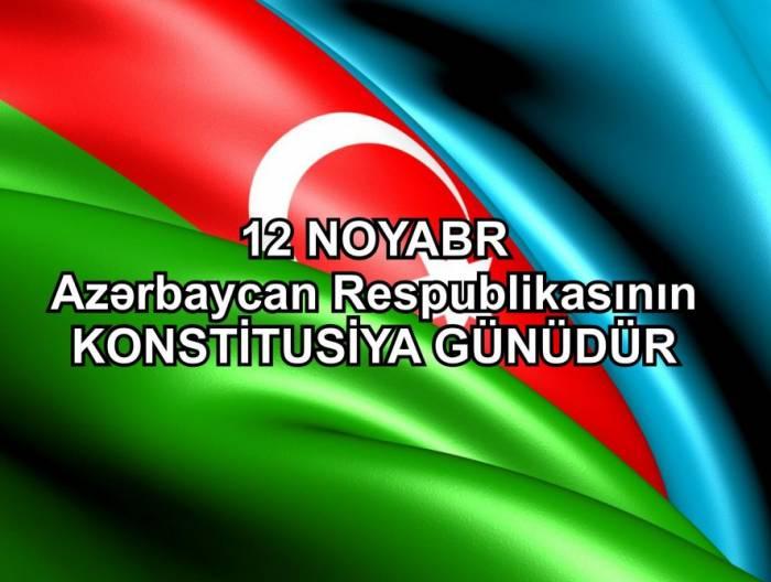 اليوم هو يوم الدستور في أذربيجان
