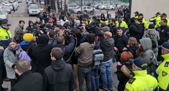 Gürcüstanda daha 6 etirazçı saxlanılıb