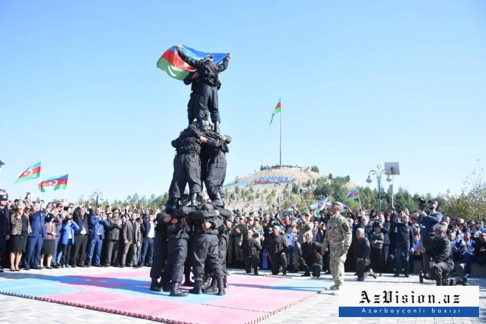 Kəşfiyyatçılarımızın Ağdamdakı nümunəvi çıxışı - FOTOLAR