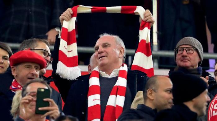 Hoeneß verlässt den FC Bayern euphorisch