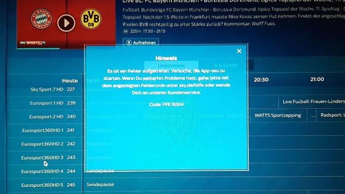 Desaster bei SkyGo-Bundesliga-Stream