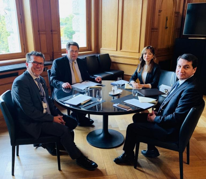 Azerbaijani top official holds series of meetings in Switzerland