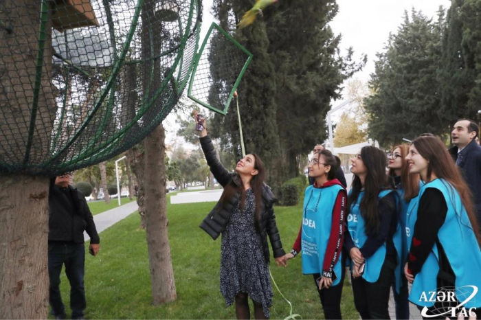 VP of Heydar Aliyev Foundation Leyla Aliyeva attends IDEA's Urban Ecology project event