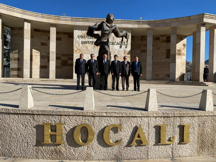 Chairman of Azerbaijani community of Nagorno-Karabakh region visits Khojaly monuments in Ankara
