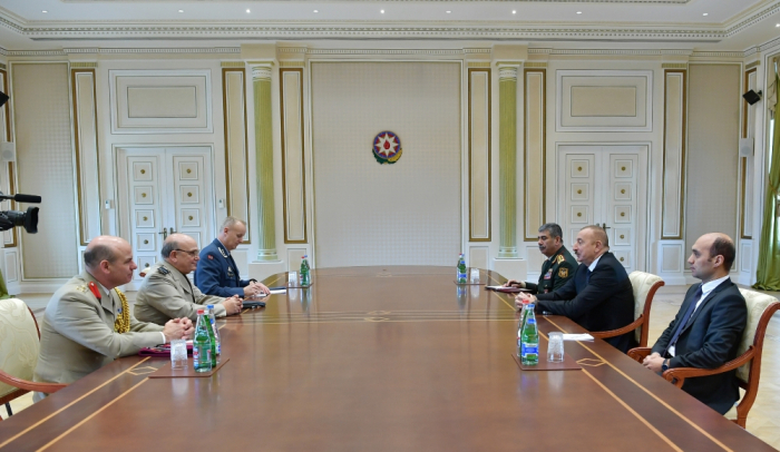 President Ilham Aliyev received delegation led by chairman of NATO Military Committee