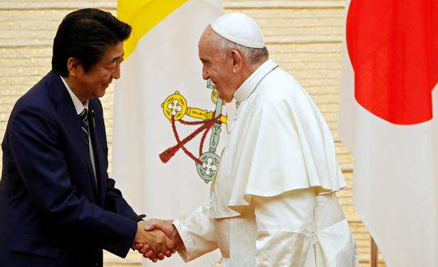 Pope voices concern over future energy as he comforts victims of Fukushima disaster