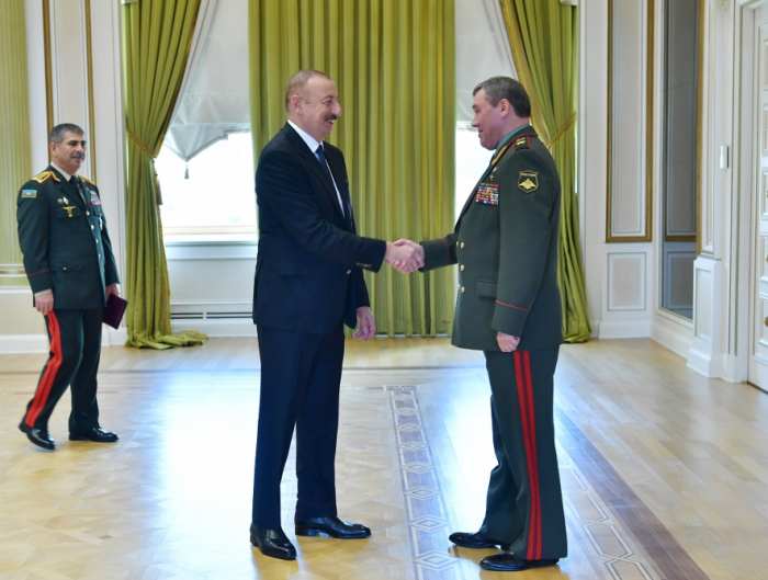 President Ilham Aliyev received delegation led by Chief of General Staff of Russian Armed Forces