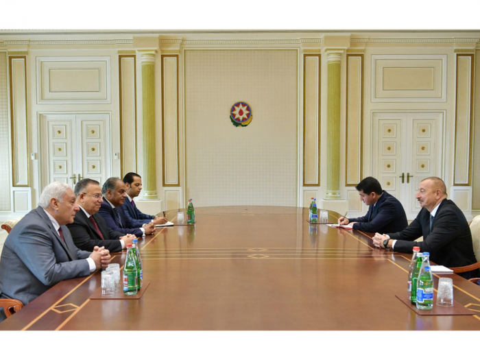 Azerbaijani President Ilham Aliyev receives delegation from Egypt -   URGENT