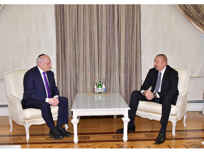 Azerbaijani president receives CEO of Conference of Presidents of Major Jewish Organizations