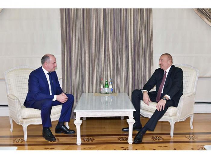 Azerbaijani president receives delegation led by head of Karachay-Cherkessia Republic of Russian Federation