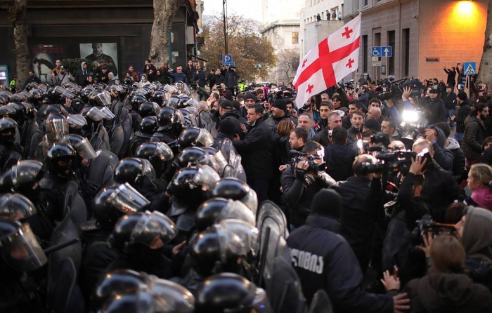 Four injured, 37 detained in Tbilisi protests