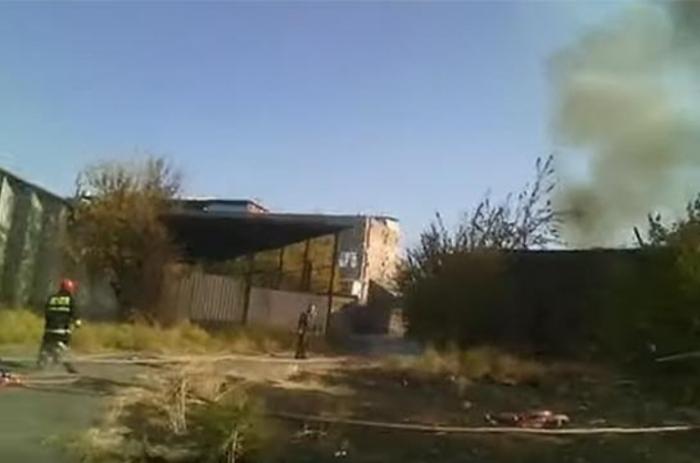 Rusiyanın Ermənistandakı hərbi bazasında yanğın olub - VİDEO