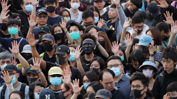 Hong Kong marchers keep pressure on Lam after local vote-   NO COMMENT