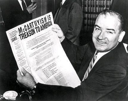 Joseph McCarthy y la cacería de brujas anticomunista