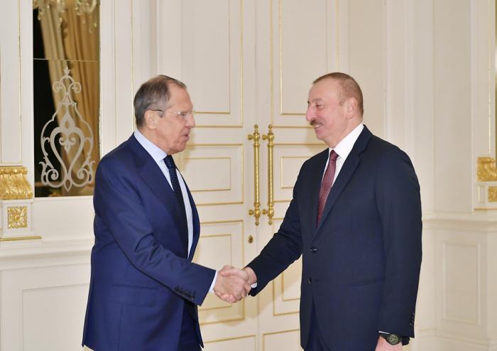 Ilham Aliyev a reçu le ministre russe desAffaires étrangères -  PHOTOS