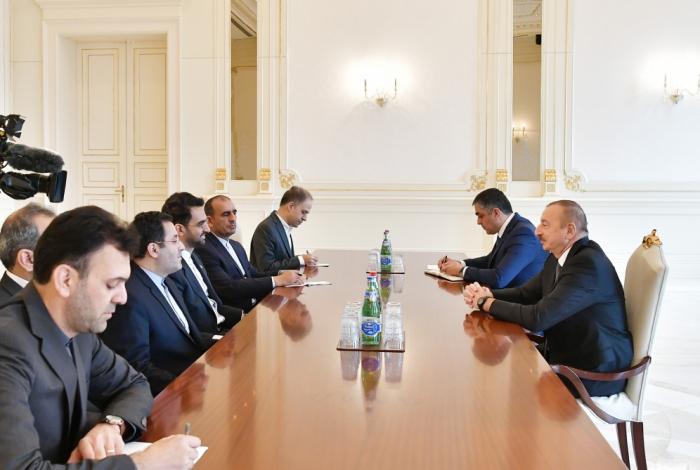 President Ilham Aliyev receives Iran