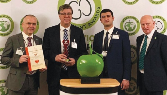 "TANAP receives ""World Leader"" and ""Green World Ambassador"" awards"