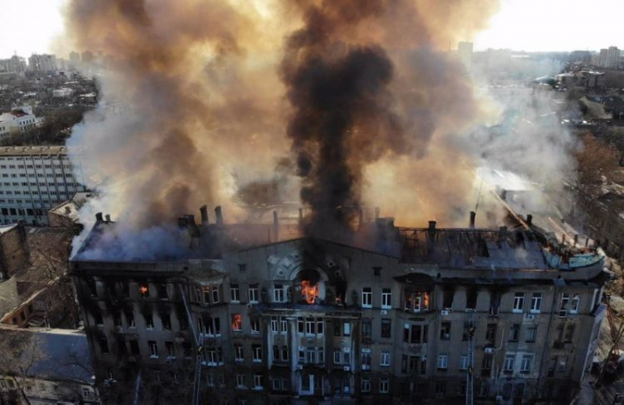 1 dead, 29 hospitalized in central Odesa college fire