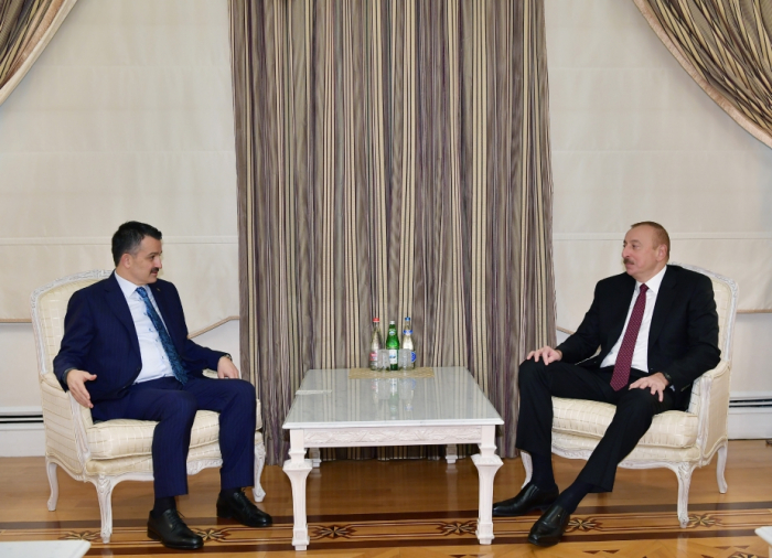 Azerbaijani president receives delegation led by Turkish minister of agriculture and forestry