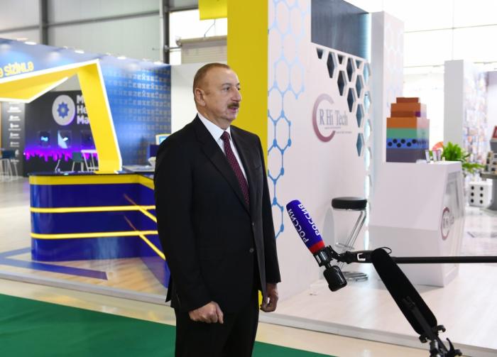 """İlham Əliyev """"Rossiya-24"""" telekanalına müsahibə verib"""
