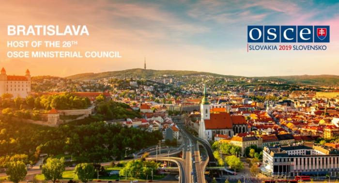 Arranca la 26 reunión del Consejo Ministerial de la OSCE