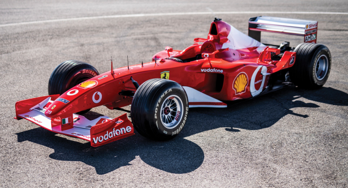 Ferrari F2002 driven by Michael Schumacher sells for $6.6 mln