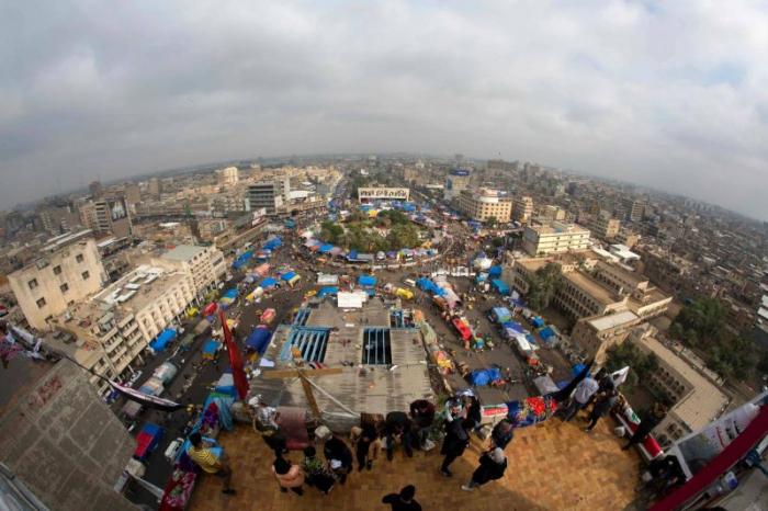 Des partisans pro-Iran investissent la place Tahrir à Bagdad