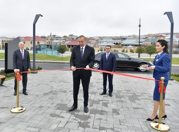 "President Ilham Aliyev attends opening of ""ASAN Həyat"" complex in Shamakhil"