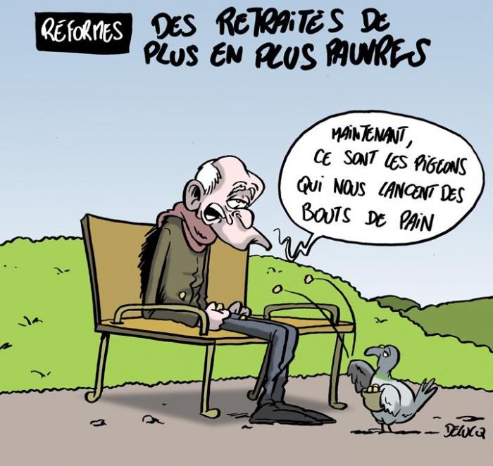 France: Desretraités de plus en plus pauvres -     Dessin de presse