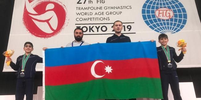 Azerbaijani trampoliners become silver medalists for first time in country's gymnastics history