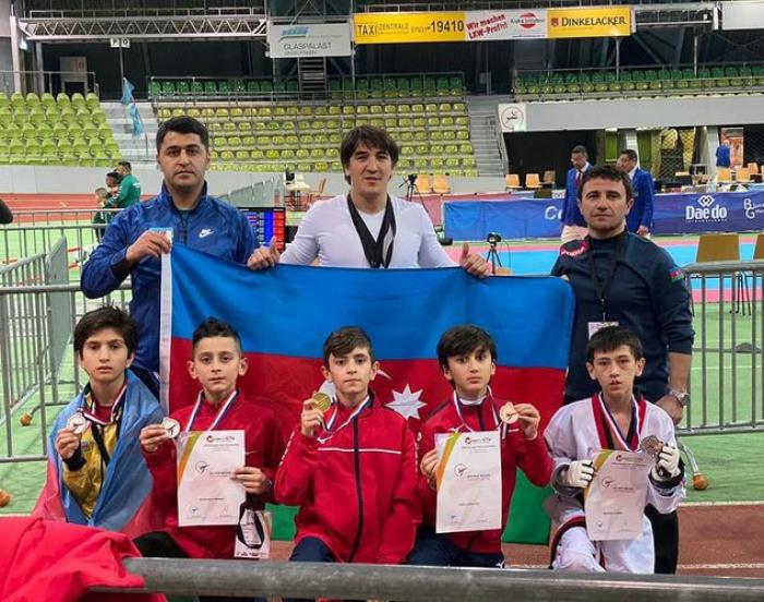 Azərbaycan taekvondoçuları Almaniyada 7 medal qazanıb