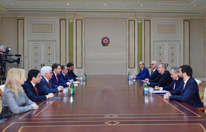 President Ilham Aliyev receives delegation led by Russian minister of economic development
