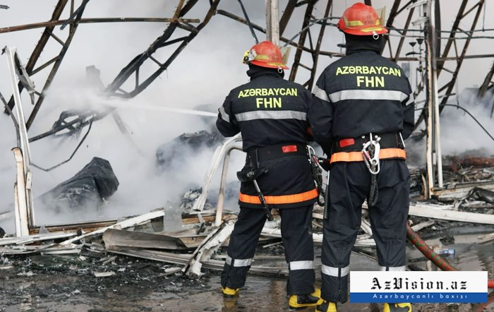 Fire at Baku building materials market extinguished - UPDATED