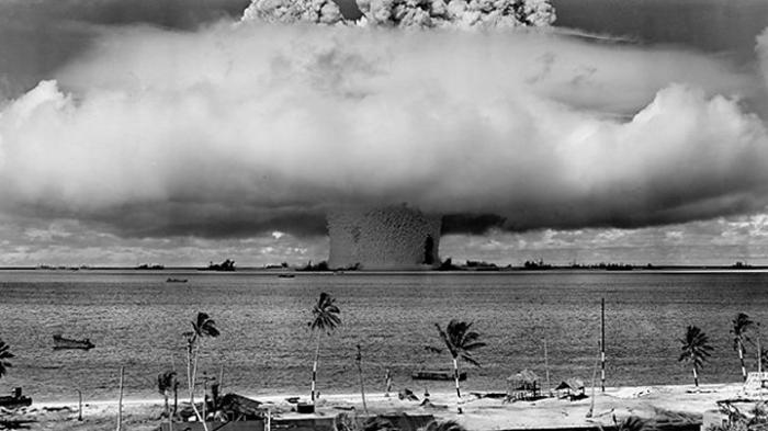 Seafloor scar of Bikini A-bomb test still visible