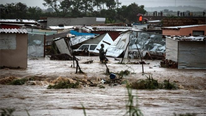 Floods and power cuts hit South Africa