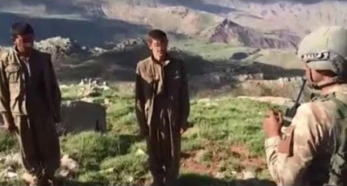 PKK terrorçuları təslim olur