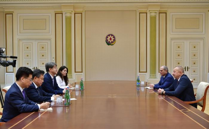 Ilham Aliyev a reçule dirigeant du Bureau national des Statistiques de la République de Corée