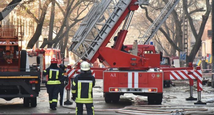 Aumenta el balance de víctimas por el incendio en un instituto de Odesa