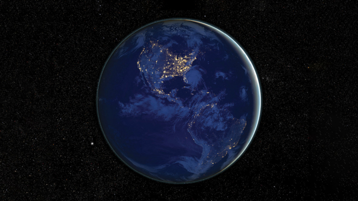 La     NASA     muestra cómo se ve América de noche desde el espacio iluminada por las luces de sus ciudades