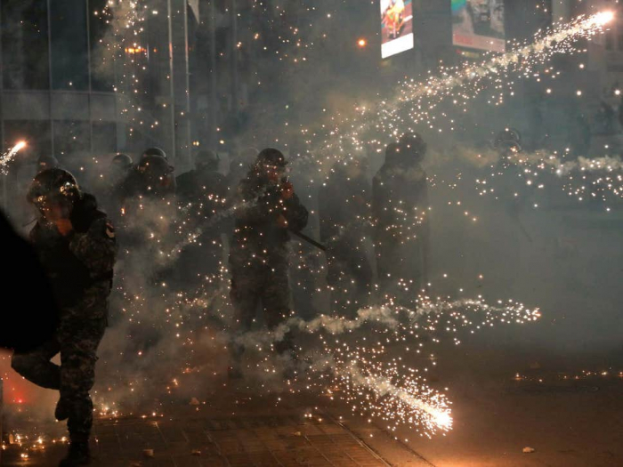 Dozens injured as police and protesters clash in Beirut