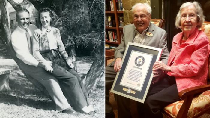 A 105 et 106 ans, le plus vieux couple marié du monde fête ses 80 ans d