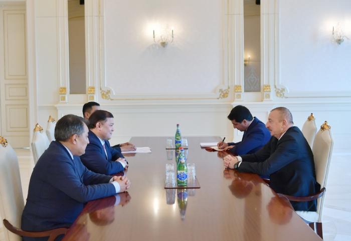 Prezident Qırğızıstan parlamentinin sədrini qəbul edib - Yenilənib