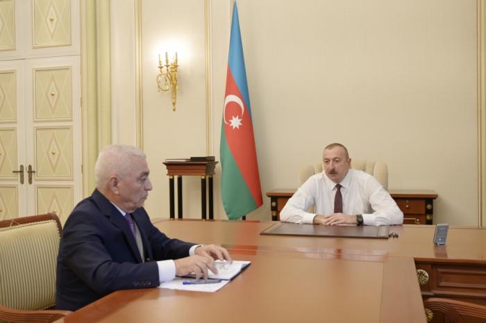 President Ilham Aliyev received head of Azerenerji OJSC