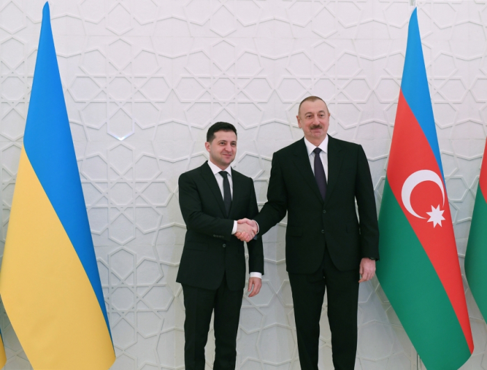 Official welcome ceremony held for Ukrainian president in Azerbaijan - PHOTOS