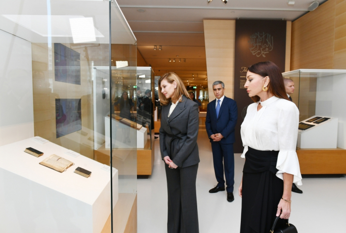 Ukrainian first lady Elena Zelenskaya visits Heydar Aliyev Center