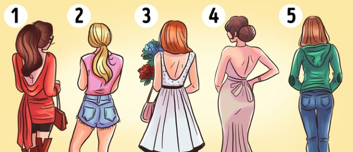 Which girl will be most attractive when they turn around?-   PERSONALITY TEST