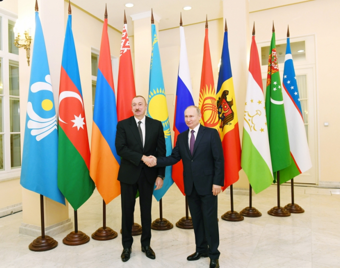 Azerbaijani President attends unoffical meeting of CIS leaders in Russia