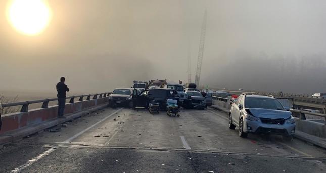 35 people injured in 63-vehicle crash on Virginia highway